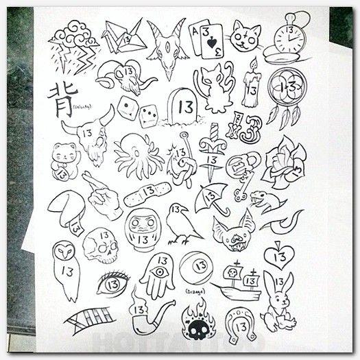 Stick Poke Hot Tattoo Tattoo Flash Sheet 13 Tattoos Friday The 13th Tattoo