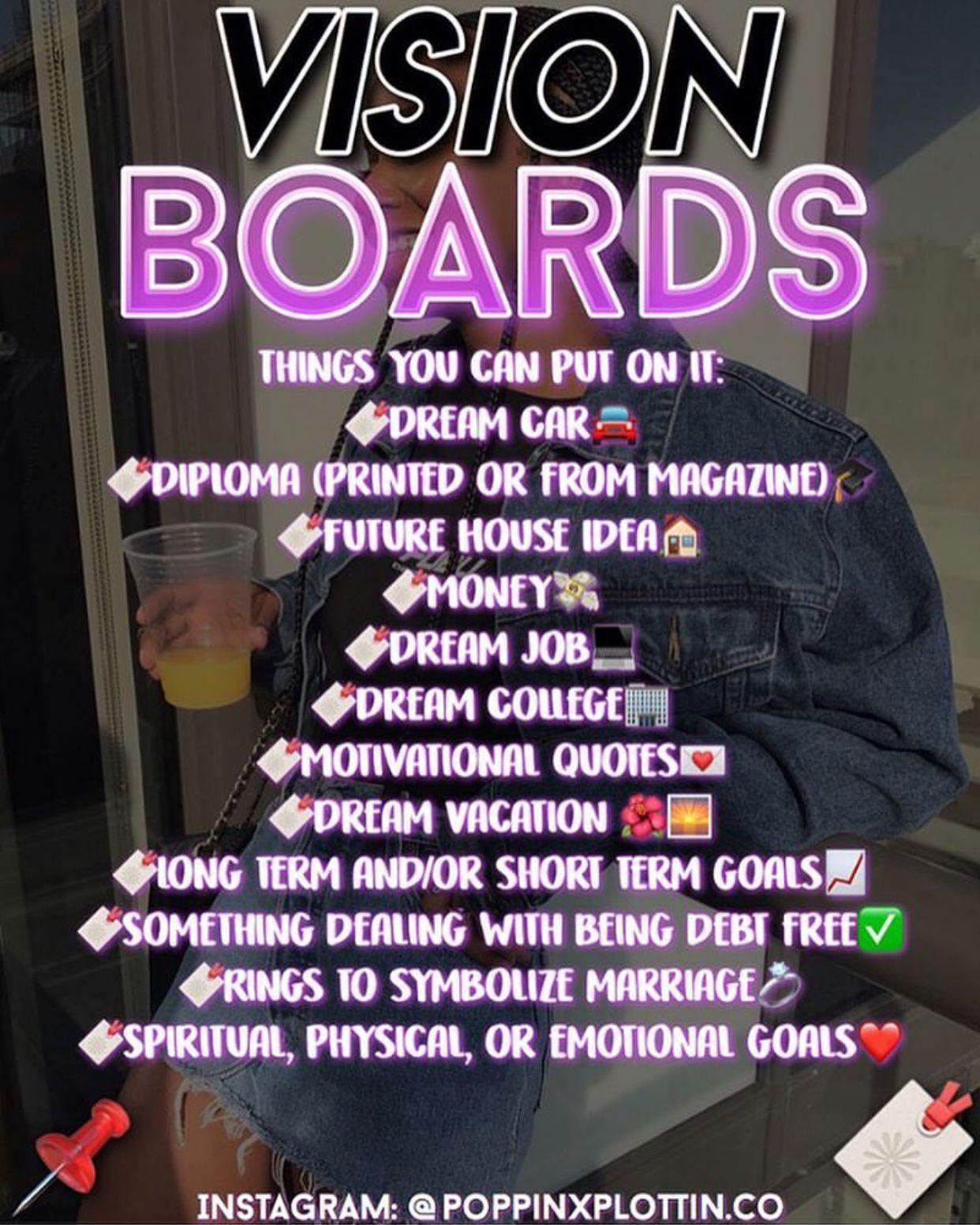 Vision Board Personaldevelopmentactivities