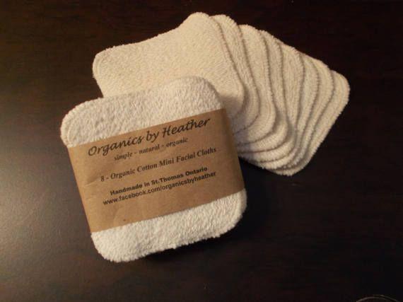 organic cotton mini facial cloths 8 pack facial cloths organic cotton fabric mini facial pinterest