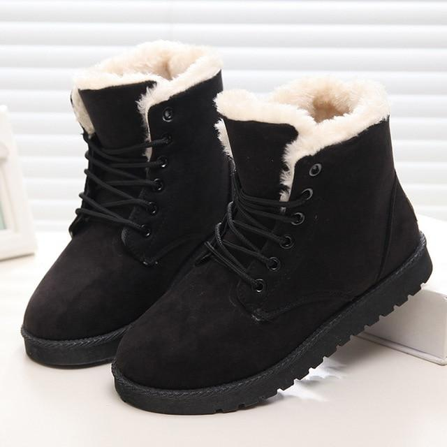 a72bb87f9d750 Women Boots Winter Super Warm Snow Boots Women Suede Ankle Boots For Female  Winter Shoes
