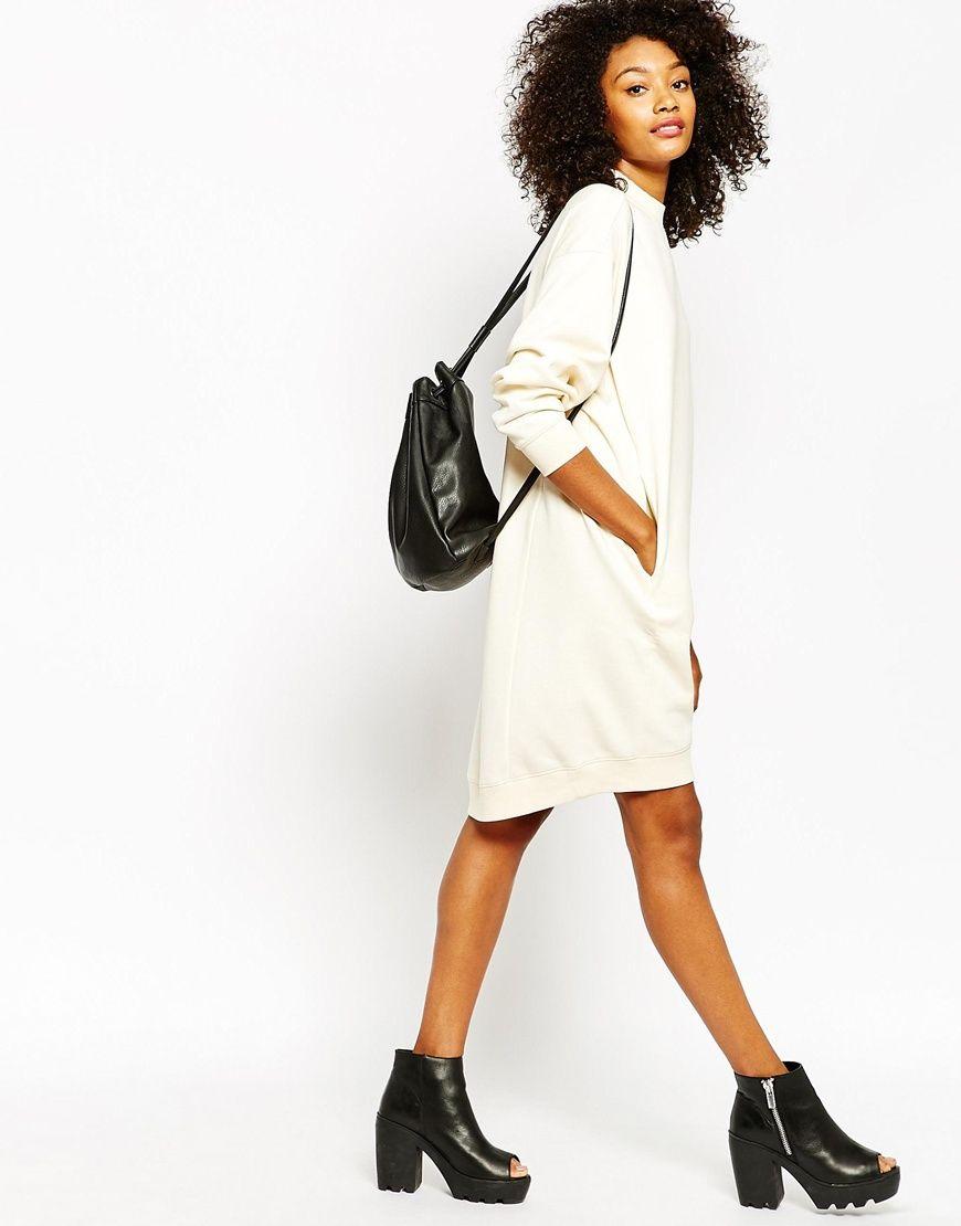 Image 4 of Monki Oversized Jumper Dress | Style Inspo | Pinterest ...