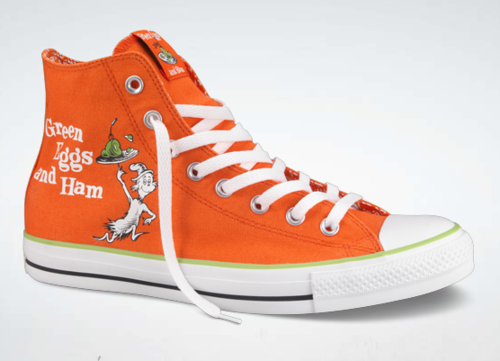 Dr. Suess Green Eggs and Ham Converse sneakers. We all love Dr. Suess  right  Collectible item from Converse. d615efdb8