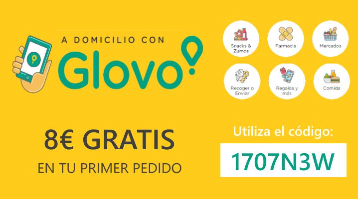 48a8ac63ad9 Código descuento de 8 euros en Glovo para tu primer pedido | Chollos ...