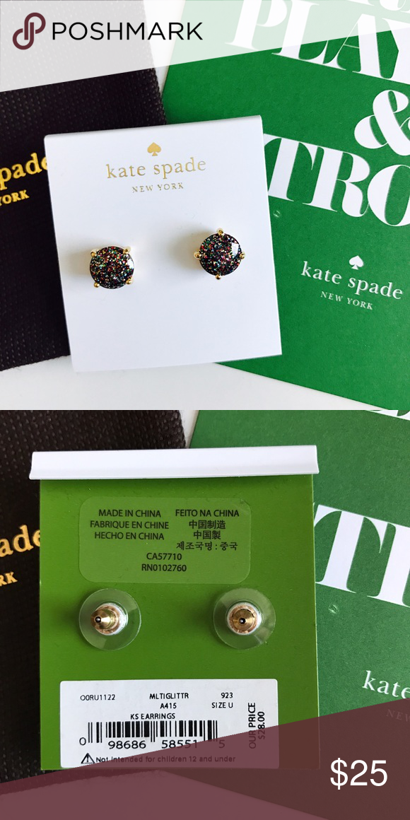 kate spade multi glitter earrings. New with tags, will include dust bag. Price is firm unless bundled. Sorry, no trades. kate spade Jewelry Earrings