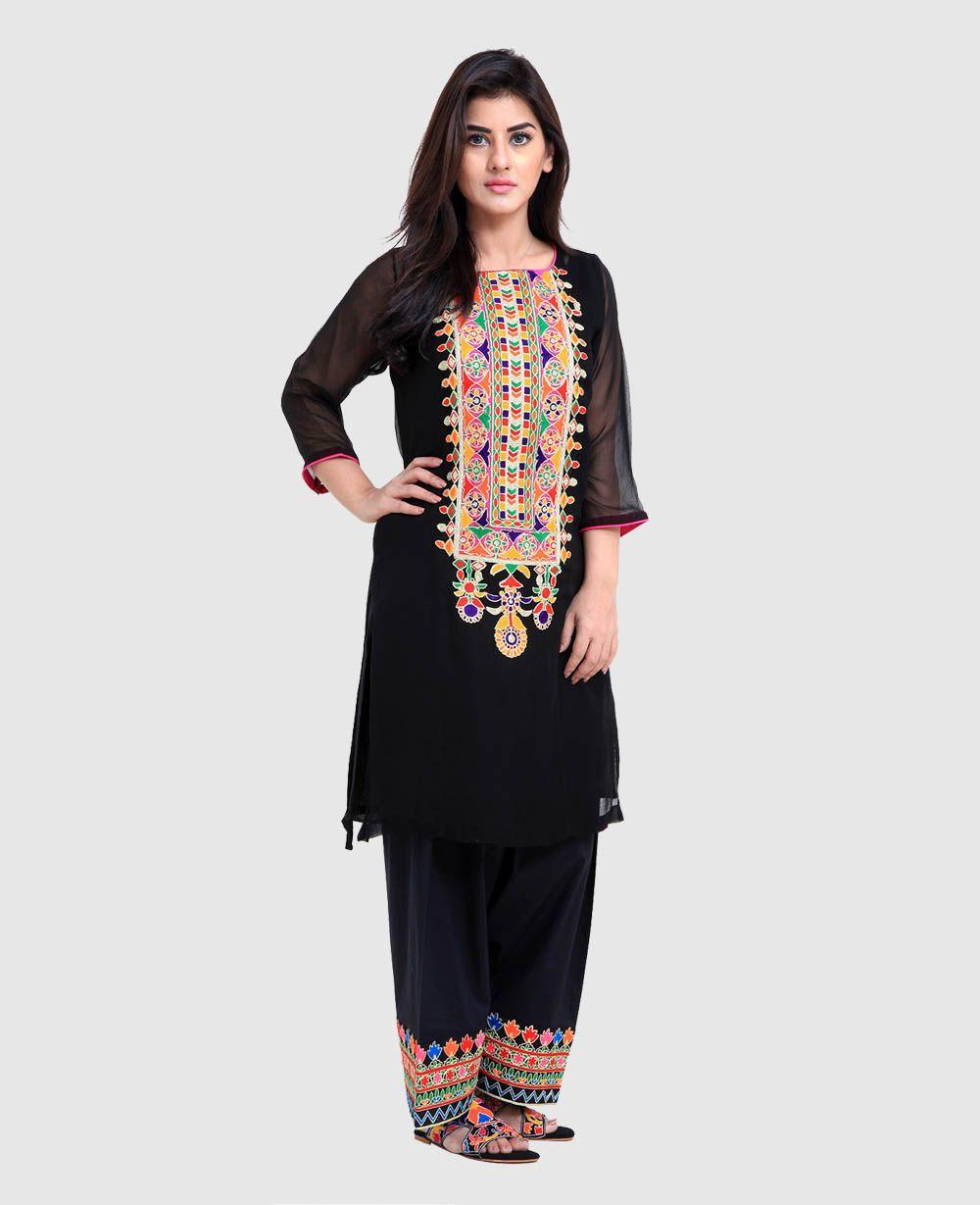 39806a2b77 Rang Ja Embroidered Kurtas with Tulip Pants- Eid Collection 2016-2017 (18)