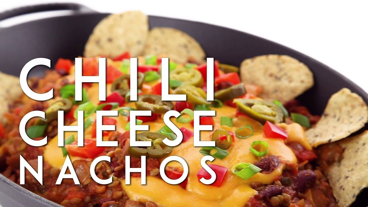 Chili Cheese Nachos Made Vegan You Have To Try These They Re Also Gluten Free Soy Free And Have A Vegan Recipes Healthy Vegan Mexican Recipes Vegan Eating