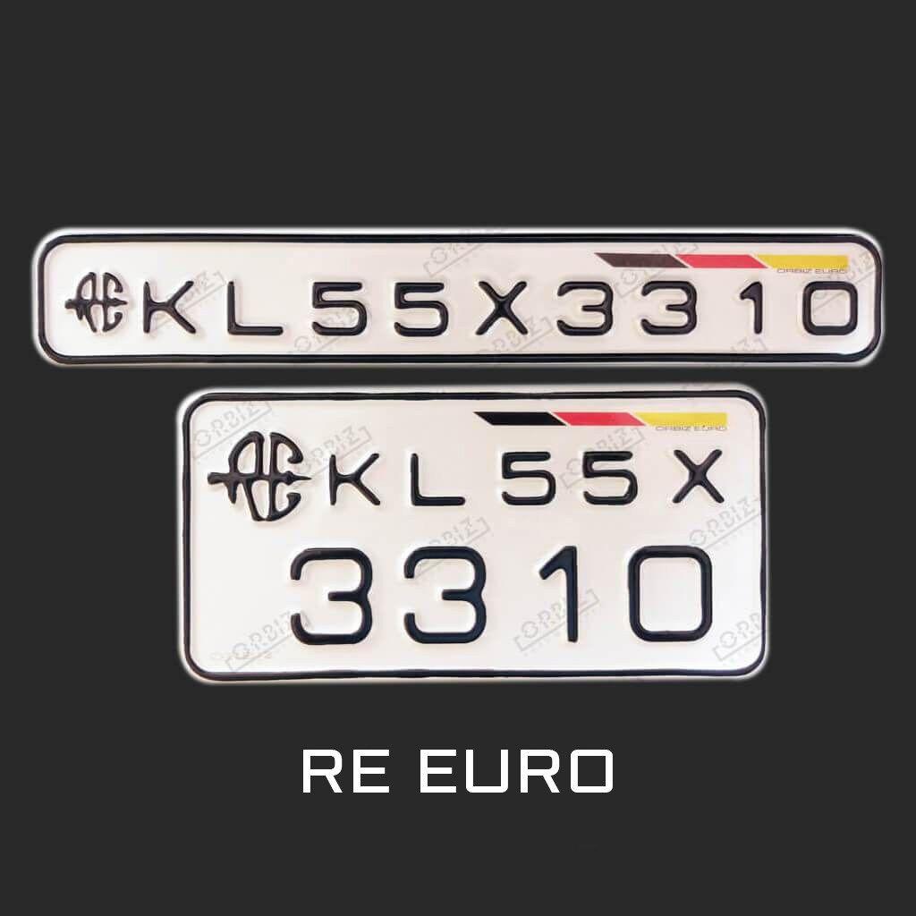 Orbiz Royal Enfield Special Number Plate Design Bullet Bike