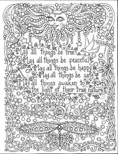 INSTANT Download Coloring Page 9 9/9 x 99 May all things be Free in ...
