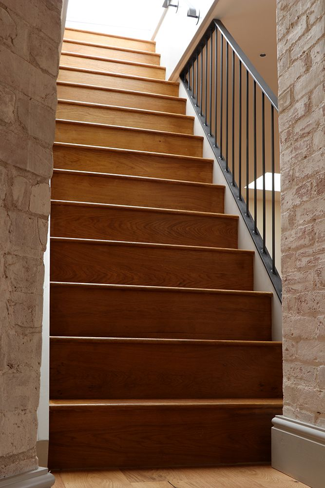 Best A Straight Flight Of Stairs Manufactured With Oak Treads 400 x 300