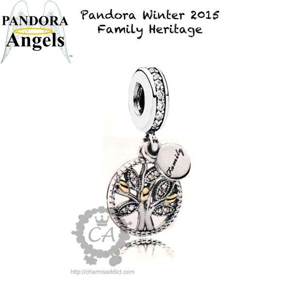 pandora family heritage charm