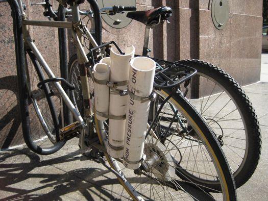 Pvc Rear Bike Rack Hack Rear Bike Rack Fishing Rod Storage