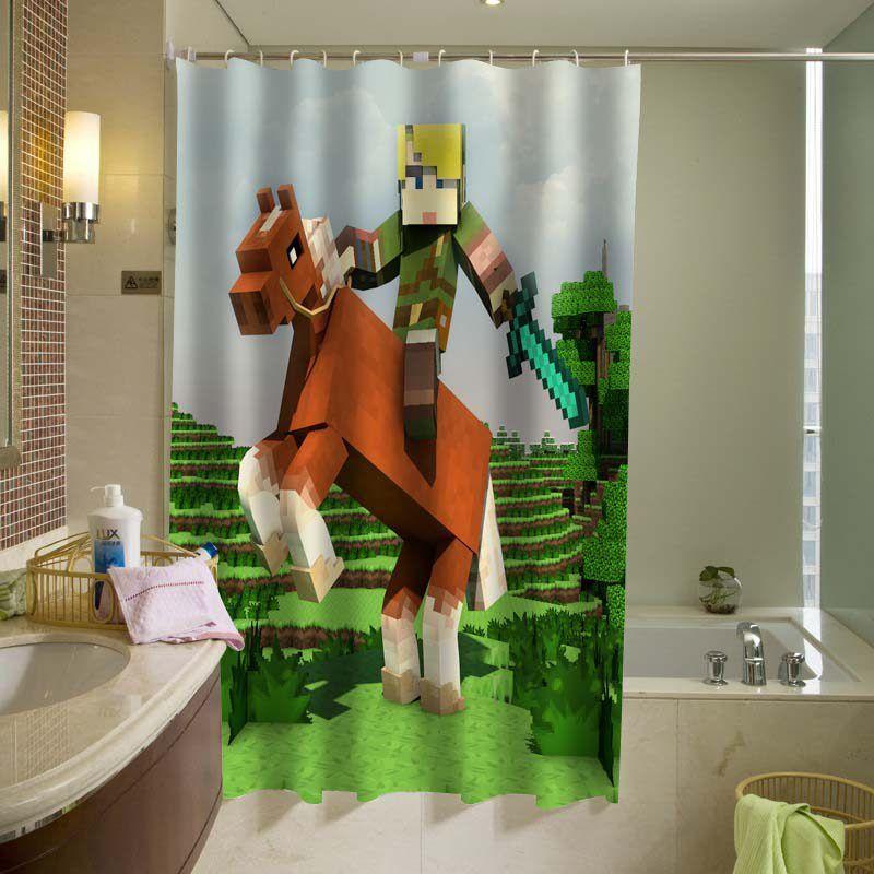 The Legend Of Zelda Brick Game Shower Curtain Km Personalized Shower Curtain Fabric Shower Curtains Shower Curtain Decor Legend of zelda bathroom decor