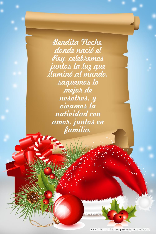 Postales navide±as Bendita Noche