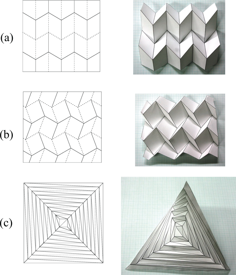 New Deployable Structures Based On An Elastic Origami Model
