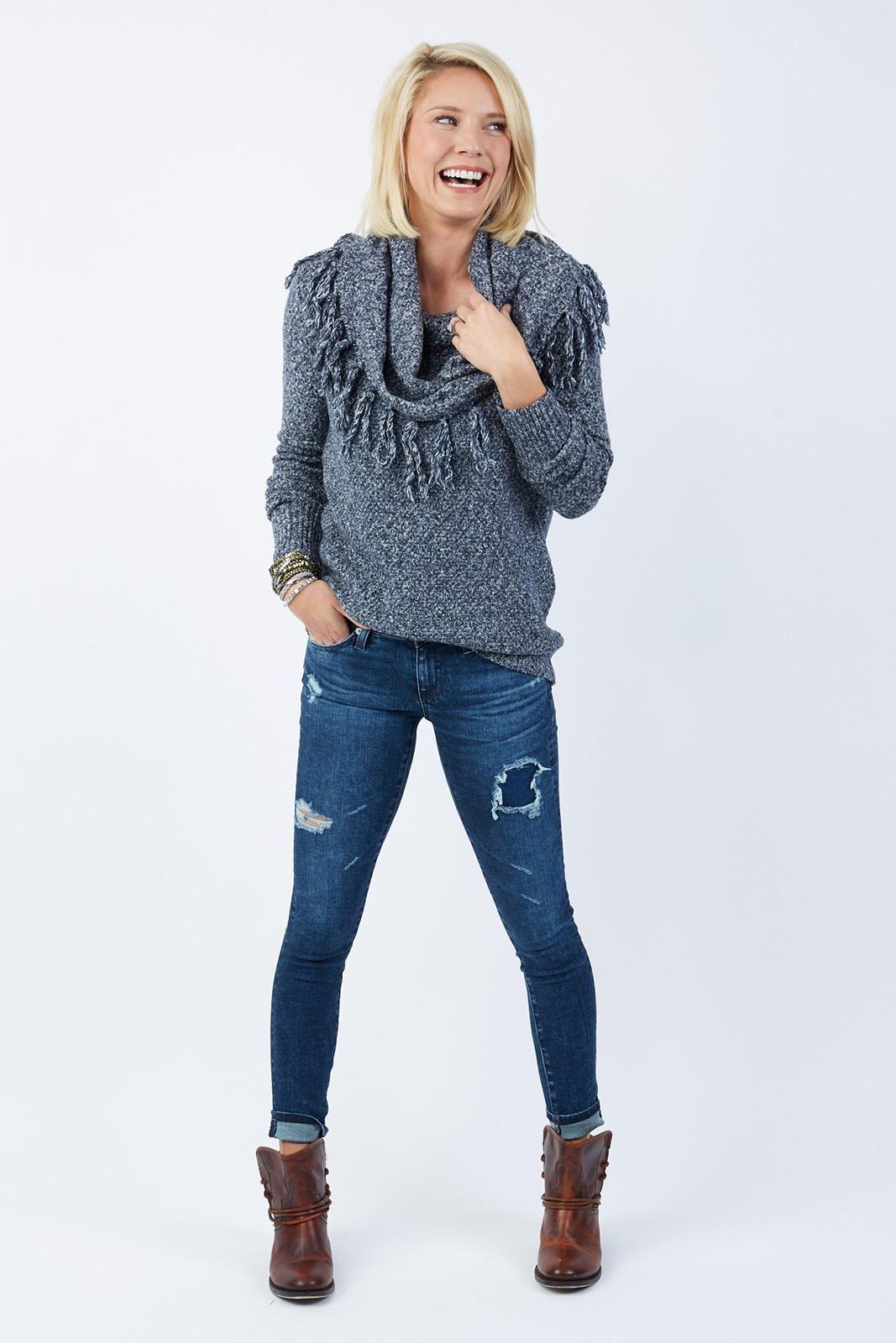 Fringe Cowl Neck Sweater by BRAEVE - EVEREVE | Fashion: Evereve ...