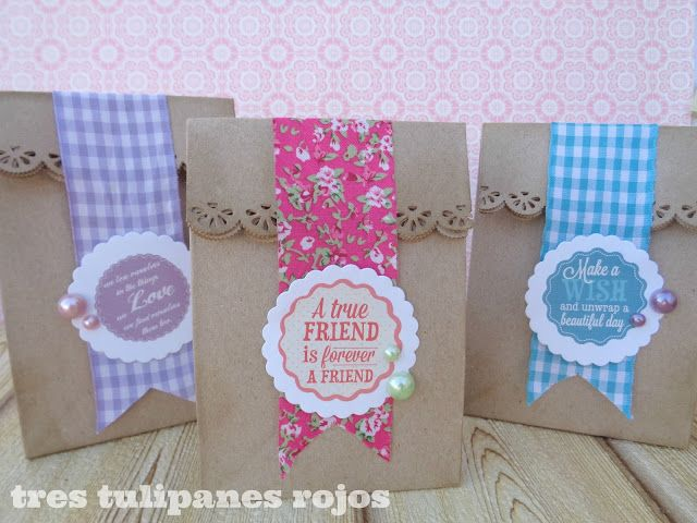 f195d847b Envolver regalos con bolsitas de papel kraft | ENVOLVER REGALOS ...