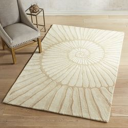 Shell Ivory 8x10 Wool Rug