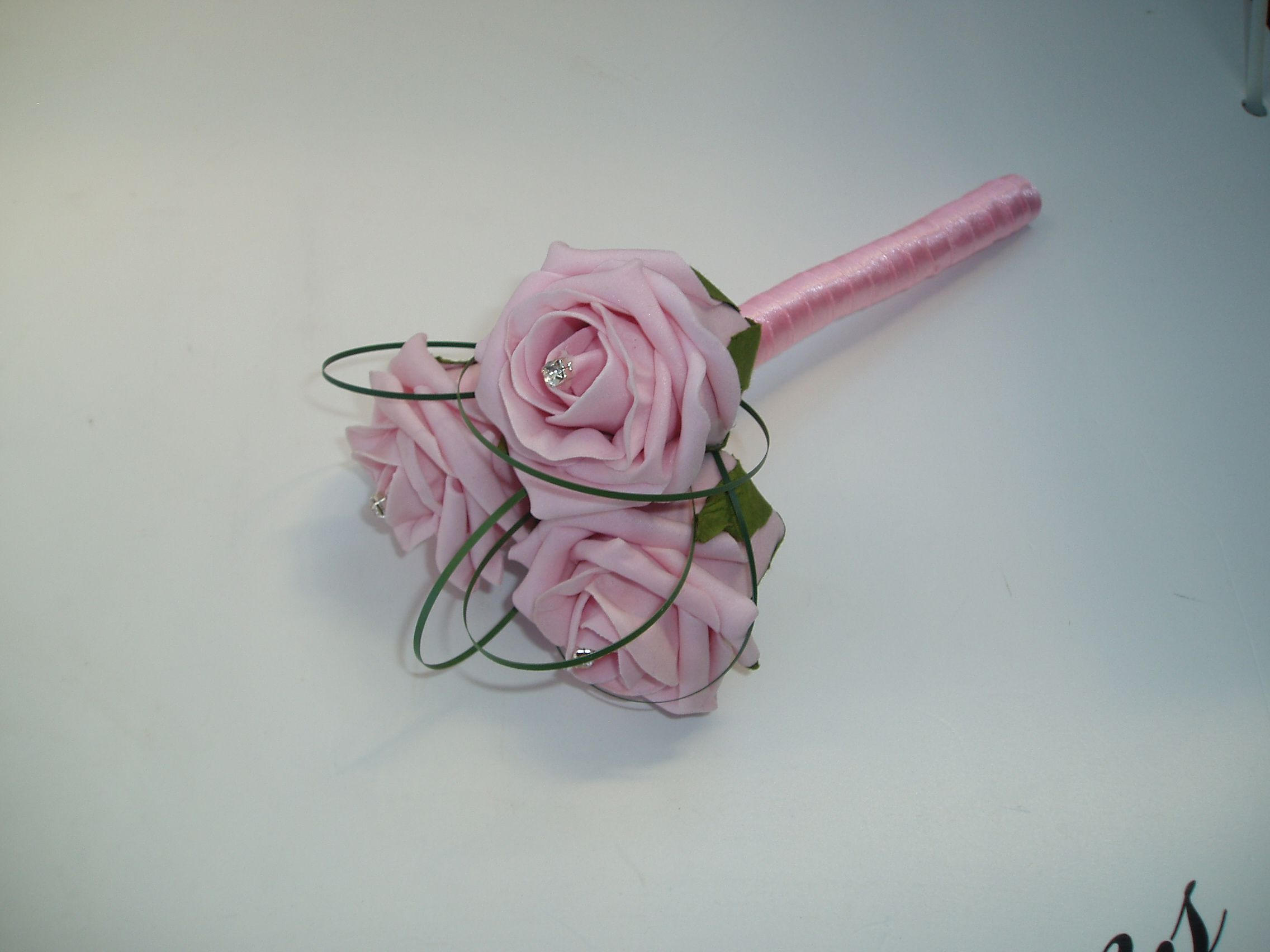 Silk Wedding Bouquets Artificial Pale Pink Roses Wedding Flowers
