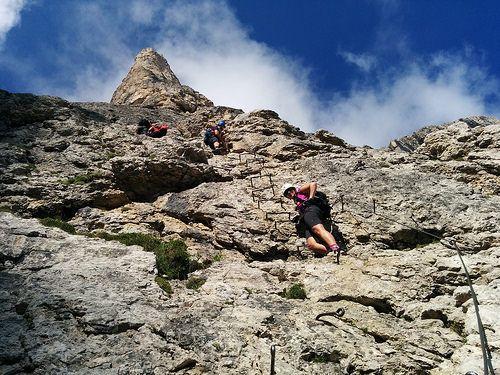 Klettersteig Nrw : Pisciadù klettersteig es bleibt spannend