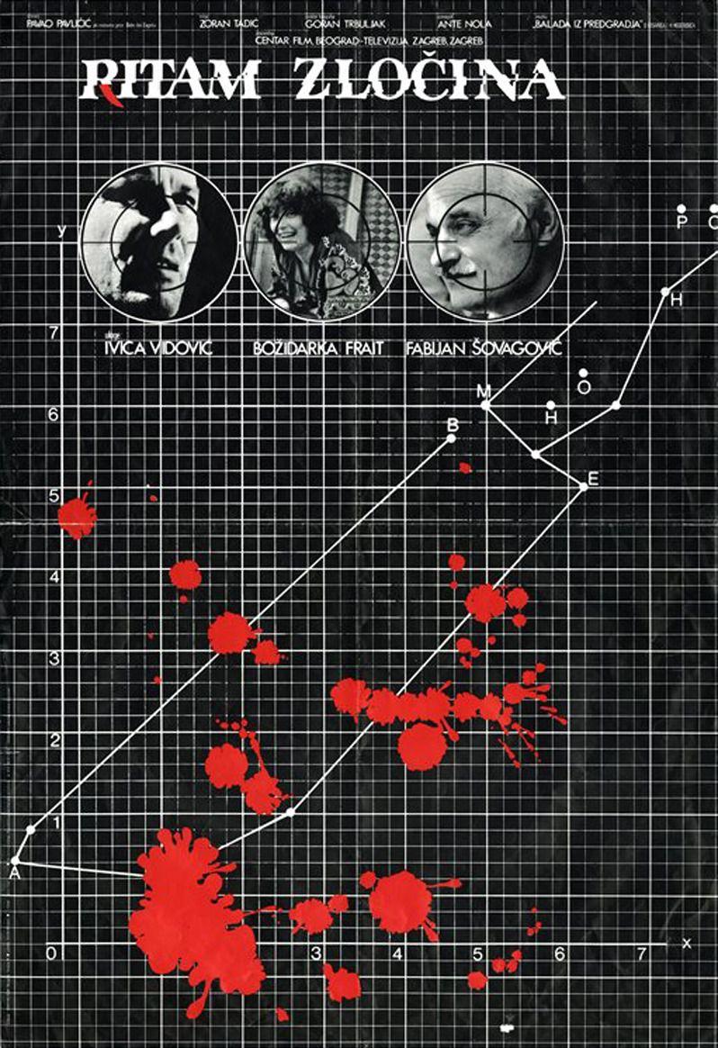 Plakat Filma Ritam Zlocina 1981 Rezija Zoran Tadic Scenario Pavao Pavlicic Produkcija Centar Film Beograd Televizija
