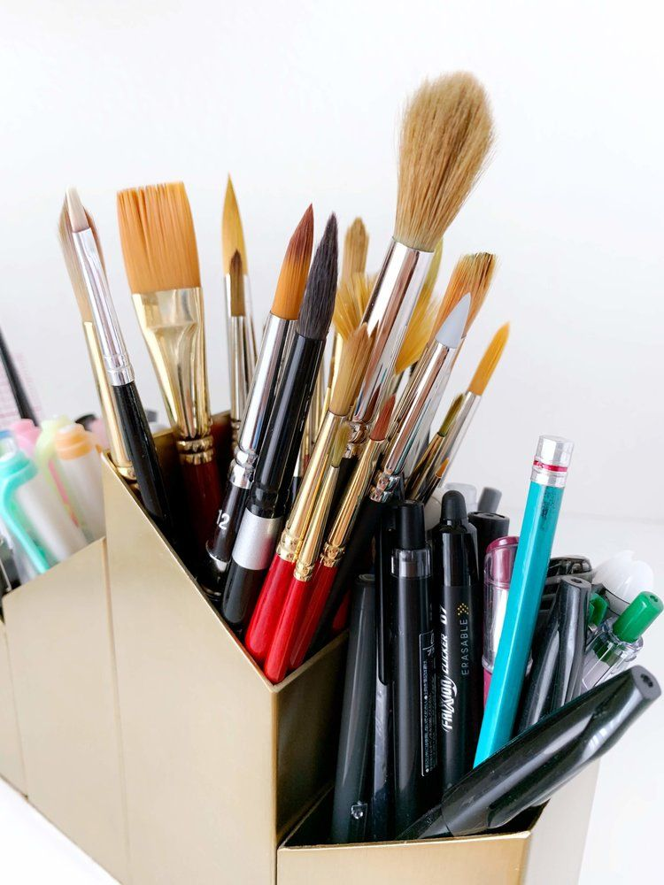 How I Organize My Watercolor Supplies Watercolor Brushes