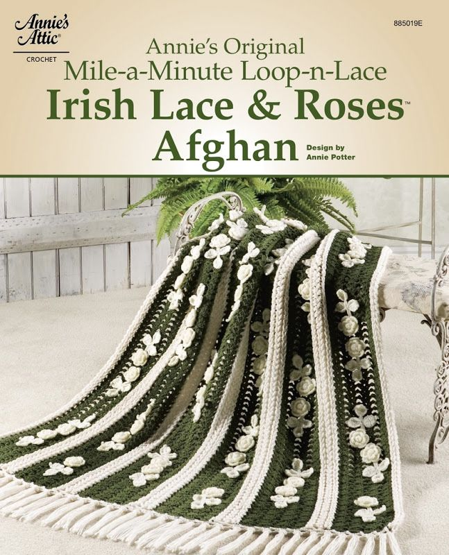 Annie\'s Original Mile-A-Minute Irish Lace & Roses Afghan | crochet ...