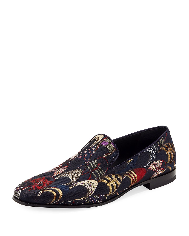 SALVATORE FERRAGAMO MEN'S JACQUARD ARCHIVAL SLIPON LOAFER  salvatoreferragamo shoes is part of Salvatore ferragamo men -