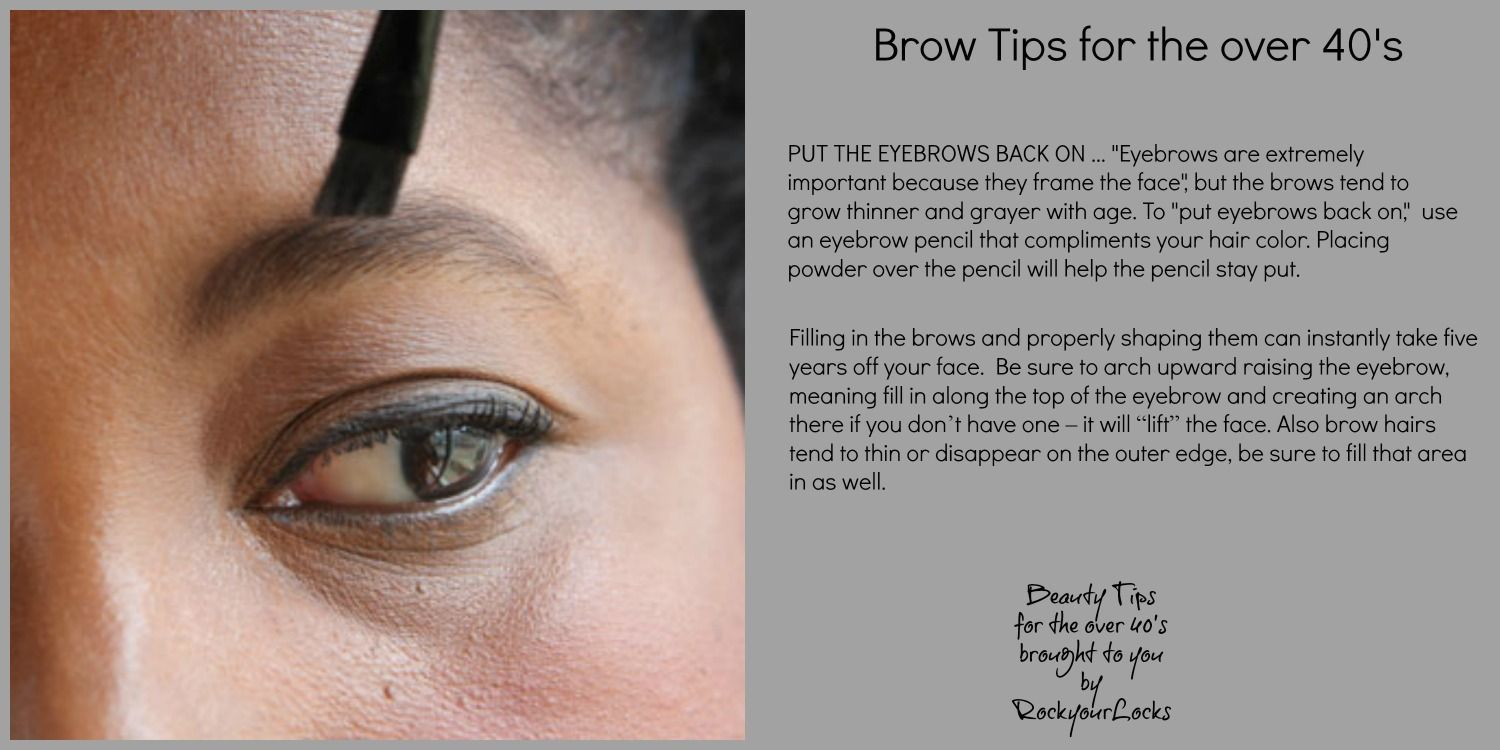 Brow Tips for the over 40's #QuickBeautyTips   Makeup tips ...