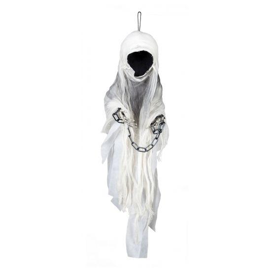 Spook zonder gezicht hangdecoratie 100 cm. Deze hangdecoratie van een spook…
