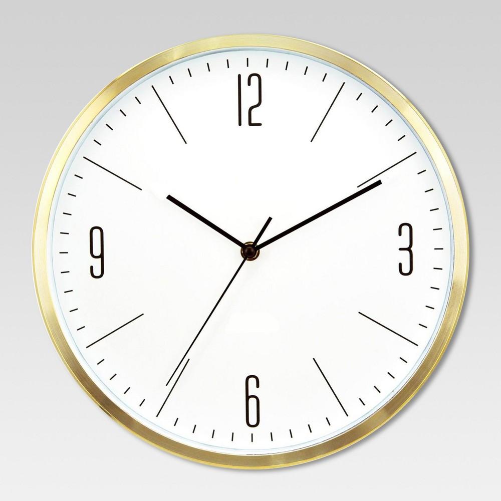 6 Round Wall Clock White Brass Project 62 Round Wall Clocks Wall Clock White Brass