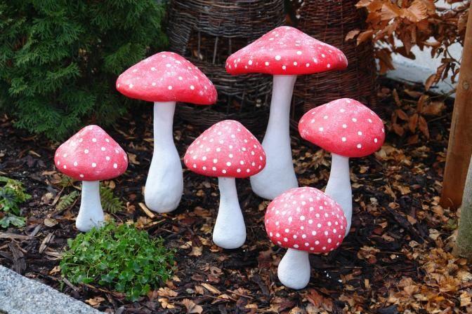 Die Obi Selbstbauanleitungen Garten Fliegenpilz Basteln Pilze