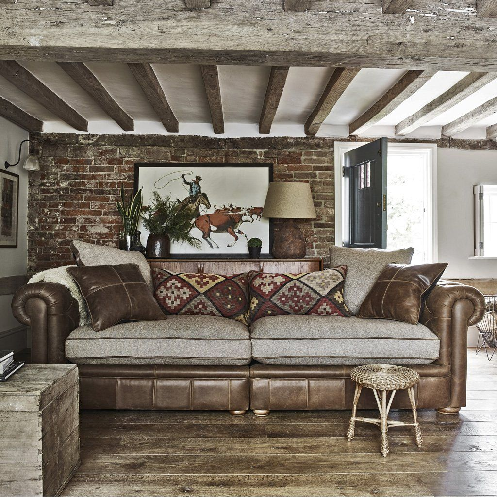 Dive Into This Zen Pool House With Rustic Flair: Country Retreat Maxi Split Sofa In 2019