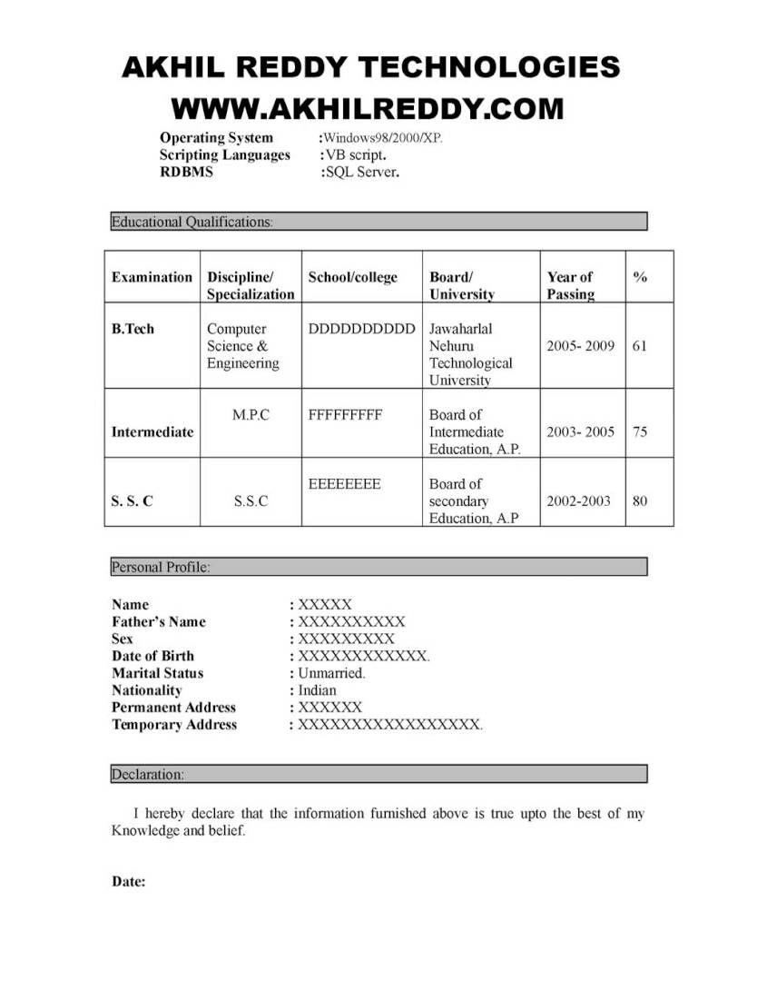 Sample Software Testing Fresher Resume Free Resume Samples Resume No Experience Software Testing