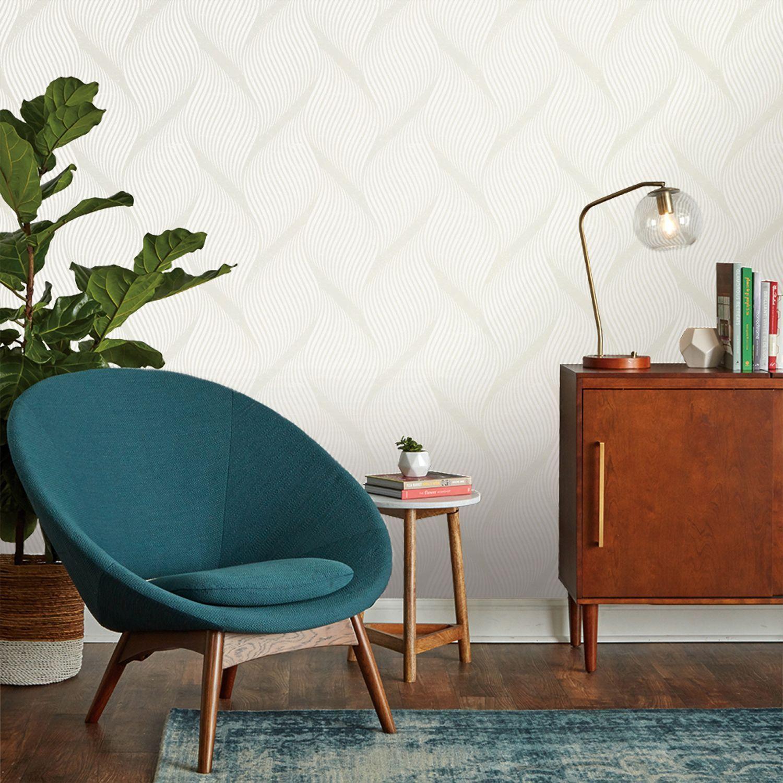 Tempaper® Wave SelfAdhesive Wallpaper Living room