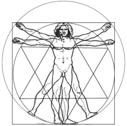 Hombre De Vitruvio Mandala Renacentista De Leonardo Da Vinci Mandalas Art Art Reference Artist