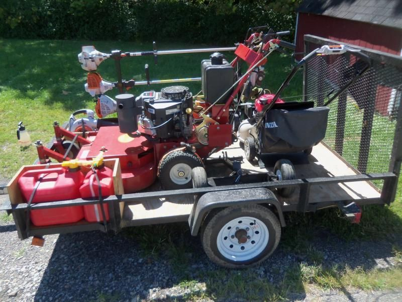 Efficiency mowing setup small truck / trailer with PICS