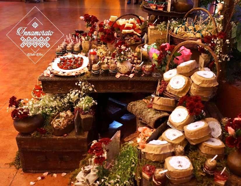 Candy Bar / Mesa de Dulces / Celta / Medieval / Candy Bar / Candy Buffet / Postres / Decoración / Bodas / Bohemio / bucólico /Marsala 7 Wedding