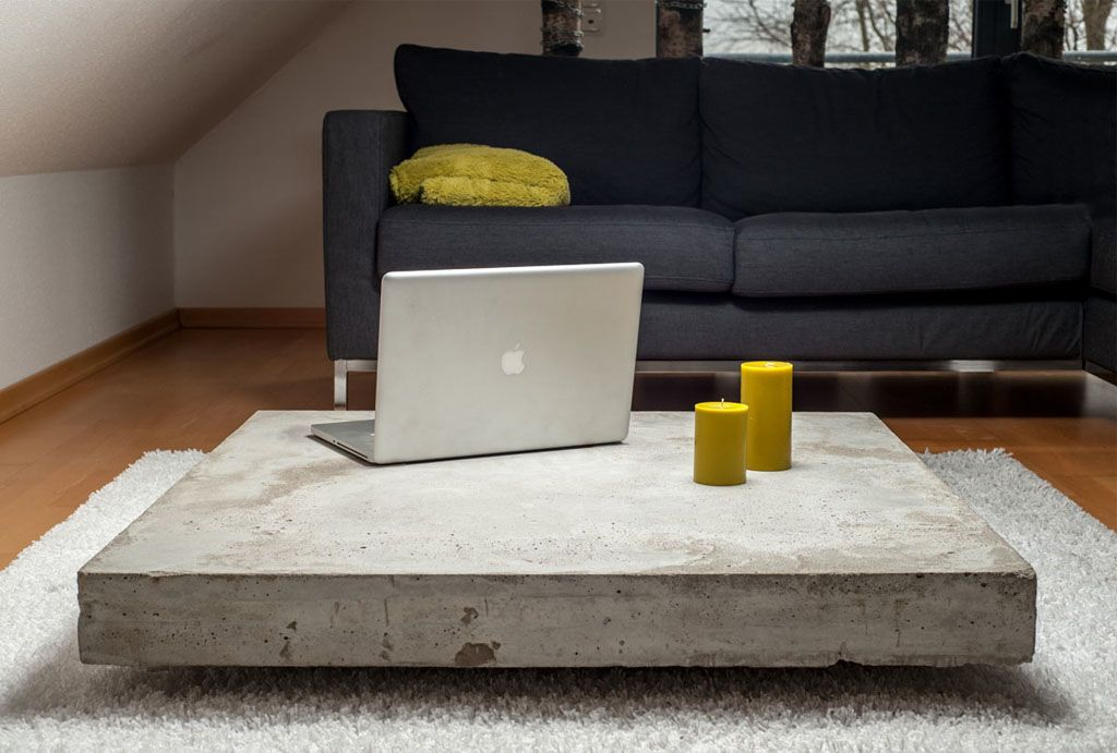 Concrete Coffee Tables You Can Buy Or Build Yourself Coffee