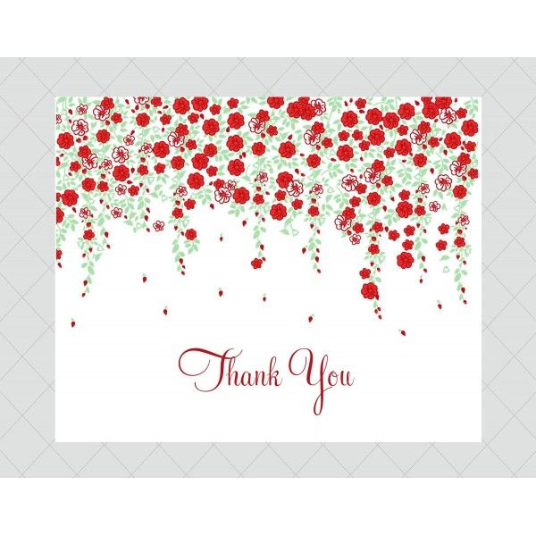 Flower Thank You Cards - Style 659 - whimsicalprints.com | Cards ...