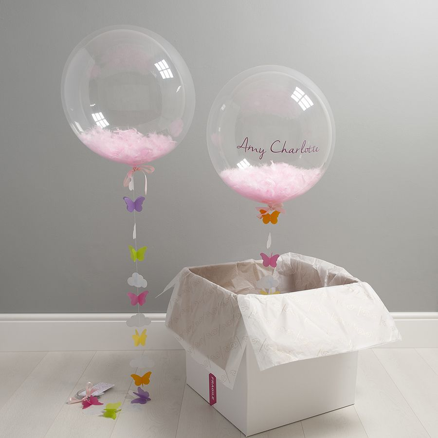 The Personalised Butterfly Confetti Balloon Globos