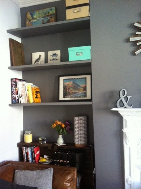 Living Room Feature Wall Decor: Dulux 'Urban Obsession' Feature Wall
