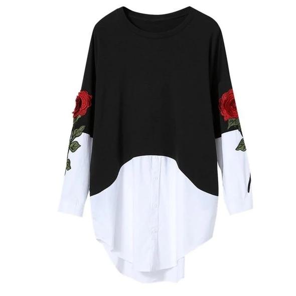 Casual Tunic Shirt Dress Girls Short Sleeve Retro Style Germany Silhouette Shirts XS-XL