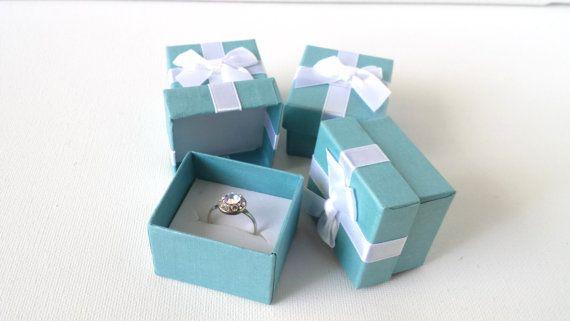 Turquoise Ring Box Aqua Gift Box Ring Box Light Blue Gift Box