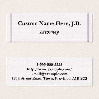 Plain \ Minimalist Attorney Business Card - minimalist office - name card example