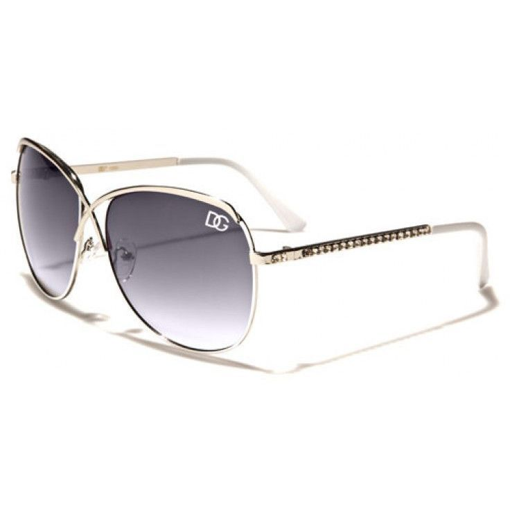 DG Eyewear - Womens Metal Sunglasses Silver White with Grey Glasses.  Chapéus Das MulheresHomem MulheresÓculos De Sol ... bd5268f4de