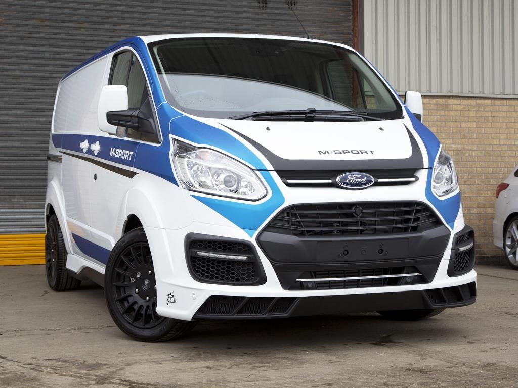Used 2016 ford transit custom 290 l2 m sport double cab van 2 2 tdci 155ps in frozen white with full lime green rally sticker pack hyper silver w