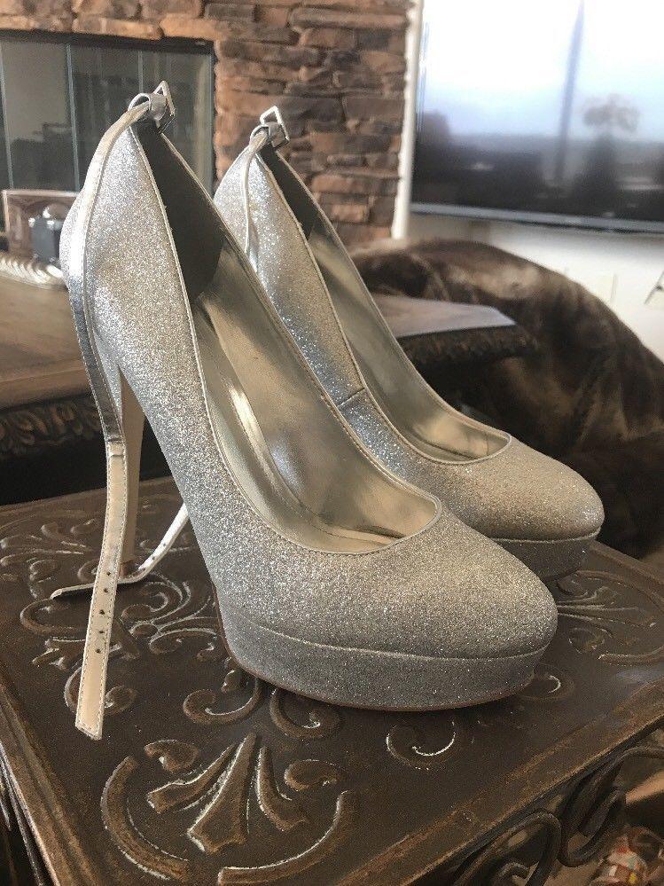 b476f6b0faa ALDO Silver Glitter Party Heels 39 9  fashion  clothing  shoes  accessories   womensshoes  heels (ebay link)