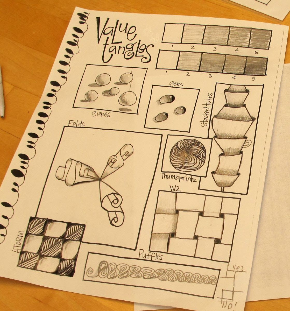 T. Matthews Fine Art:  Value Tangles for learning shading and creating depth using zentangles.