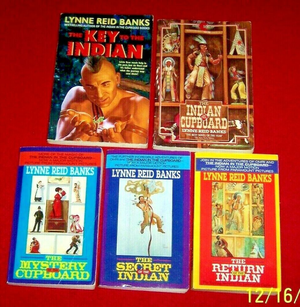 5 Indian In The Cupboard Complete Series Books Lynne Reid Banks Free Shipping Indian In The Cupboard Classroom Library Books