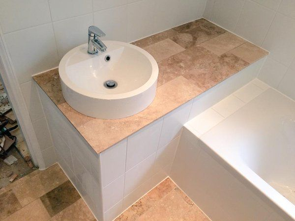Image result for stairs bulkhead in bathroom Bathroom - ideen für badezimmer fliesen